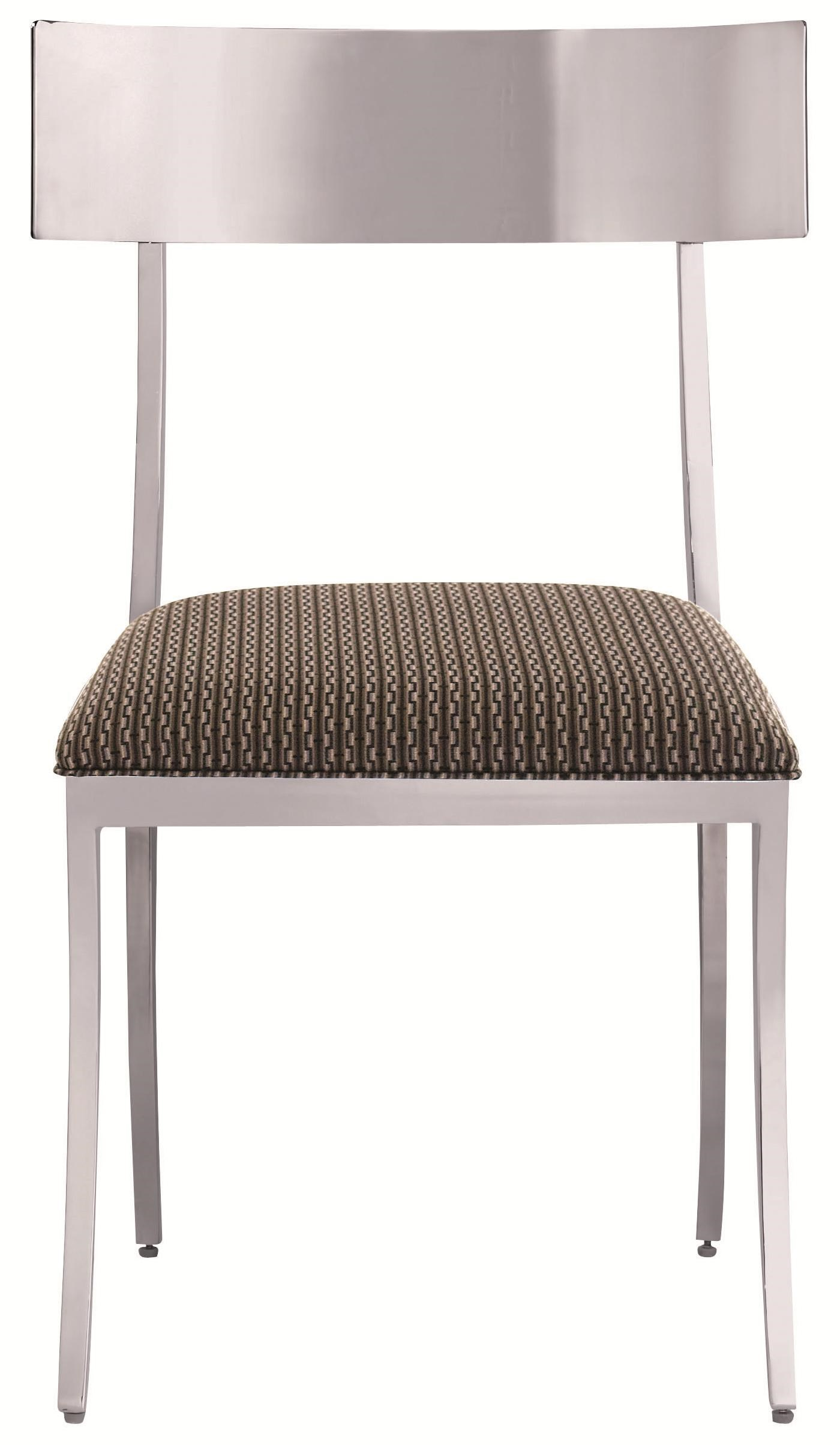Modern Polished Metal Dining Side Chair