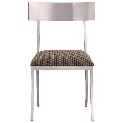 Bernhardt Interiors - Gustav Modern Polished Metal Dining Side Chair