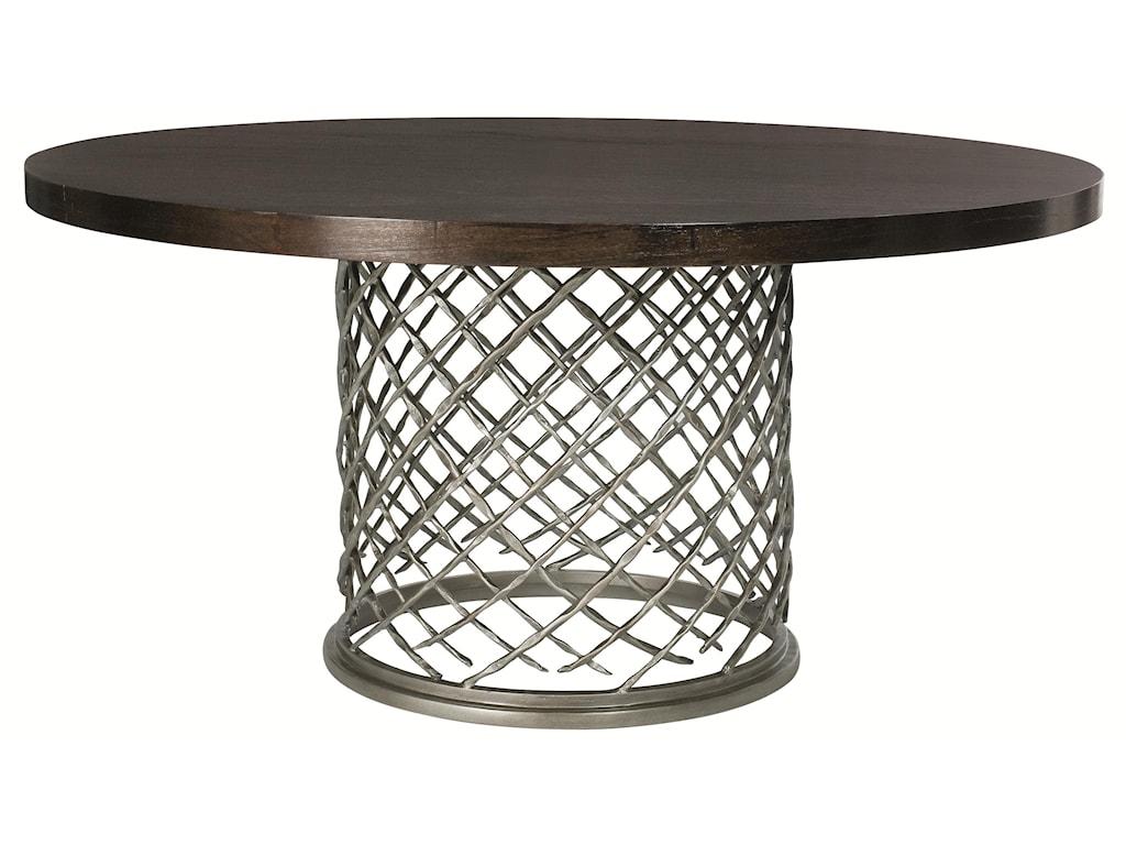 Bernhardt HallamHallam Metal Table with Wood Top (60