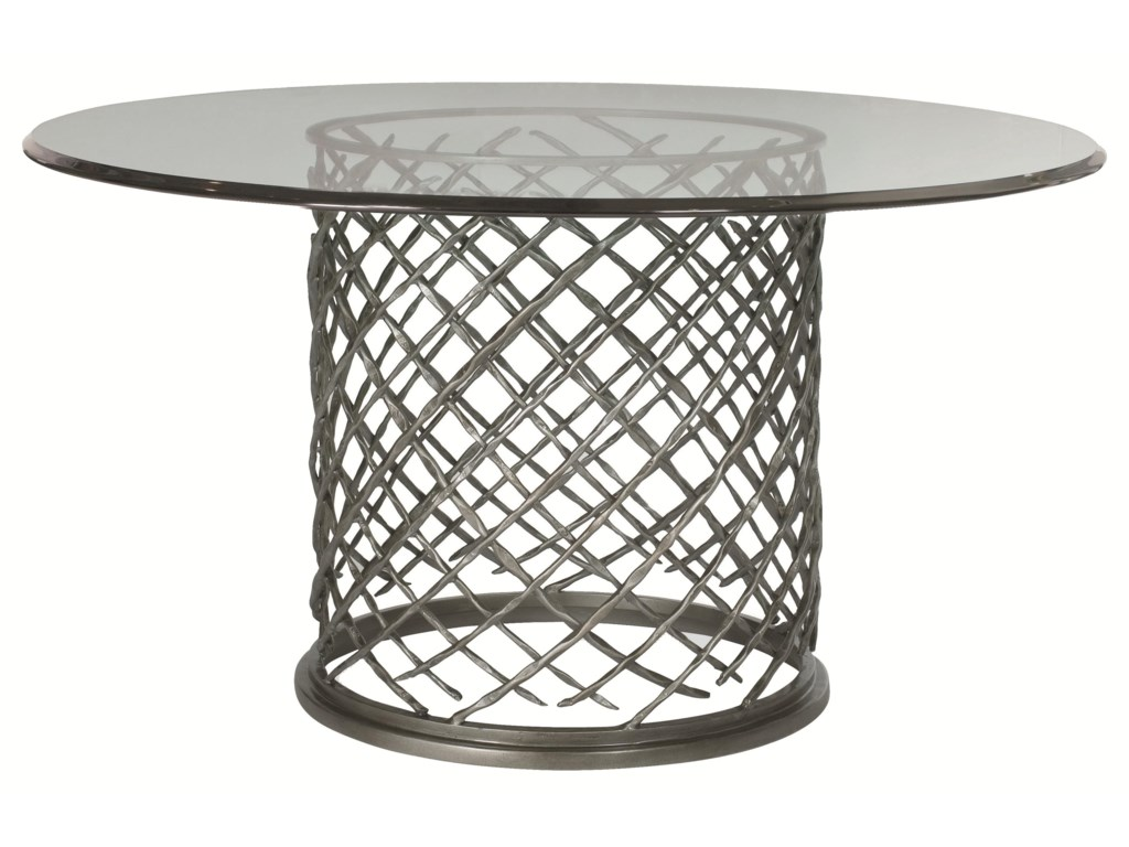 Bernhardt HallamHallam Metal Table with Glass Top (54