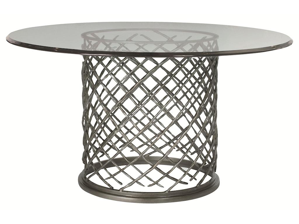Bernhardt HallamHallam Metal Table with Glass Top (54