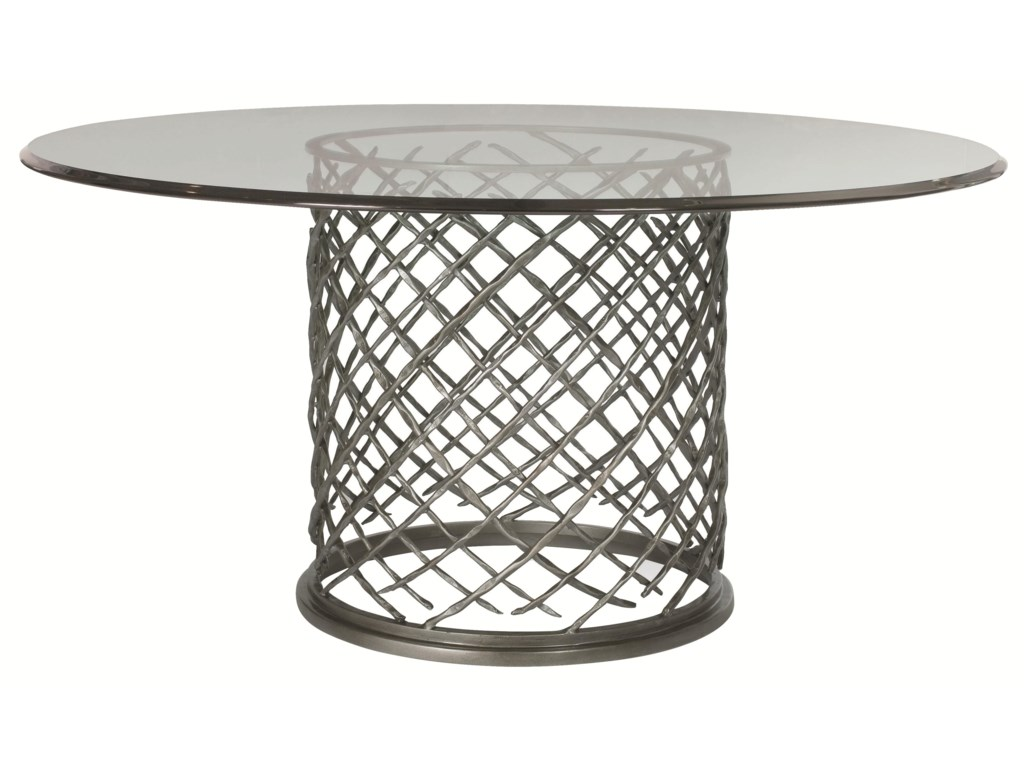 Bernhardt HallamHallam Metal Table with Glass Top (60
