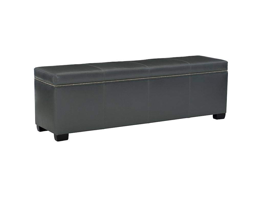 Bernhardt Interiors - HamdenLeather Bench