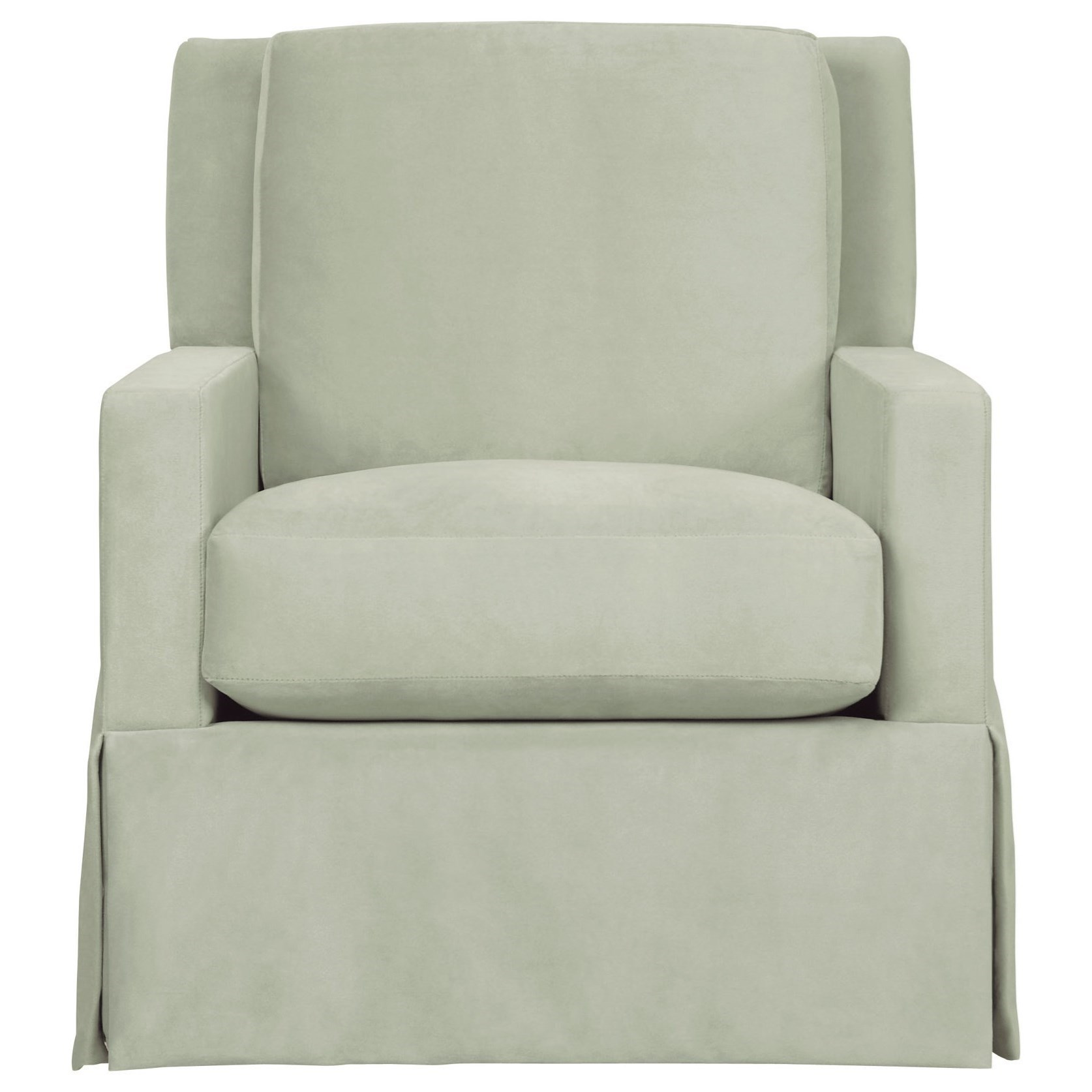 Bernhardt Interiors   Hastings Transitional Upholstered Swivel Chair