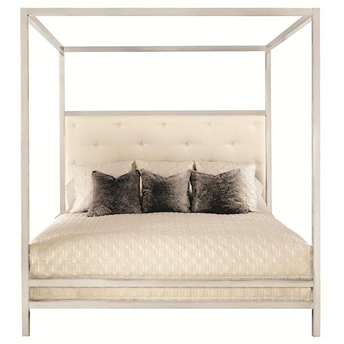 Bernhardt Landon Landon Metal Queen Poster Bed with Modern Art Style