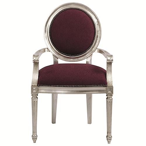 Bernhardt Interiors - Louis Louis Dining Arm Chair with Nailhead Trim