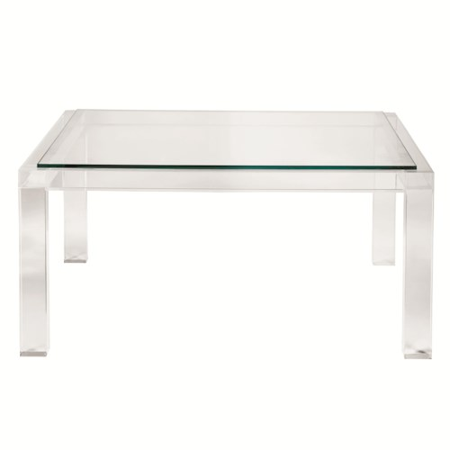 Moderne Square Cocktail Table With