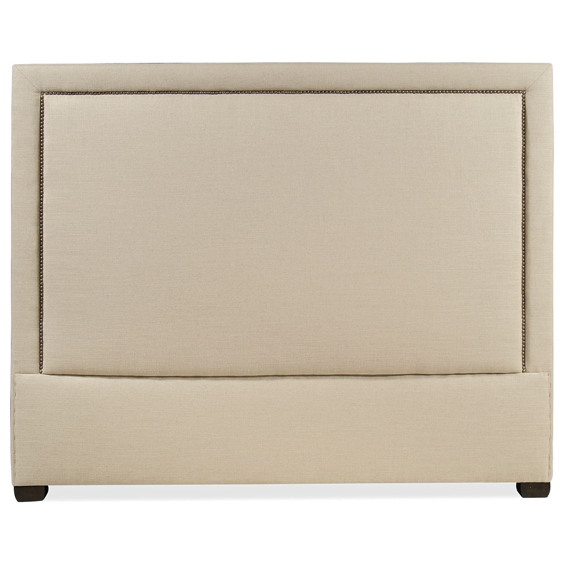 Bernhardt Interiors   Morgan Full Upholstered Panel Headboard With Nailhead  Trim