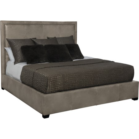 Queen Leather Upholstered Bed