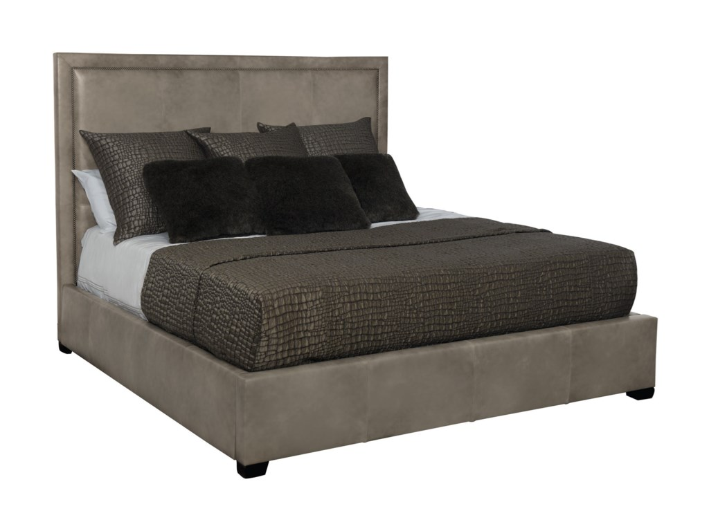 Bernhardt Interiors - MorganQueen Leather Upholstered Bed