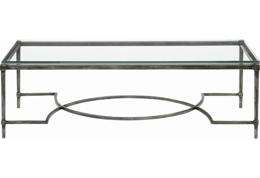 Bernhardt Interiors Accents Palmer Metal Glass Cocktail Table Belfort Furniture Cocktail Coffee Tables