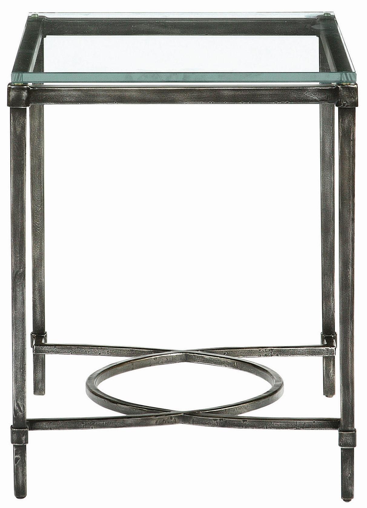 Palmer Metal & Glass End Table