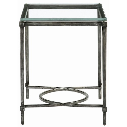 Bernhardt Interiors - Accents Palmer Metal & Glass End Table