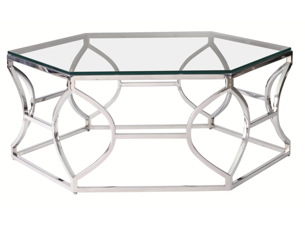 Bernhardt Interiors - AccentsArgent Metal Cocktail Table