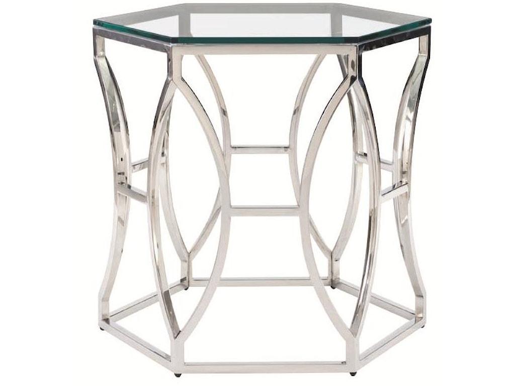 Bernhardt Interiors - AccentsArgent Metal Side Table