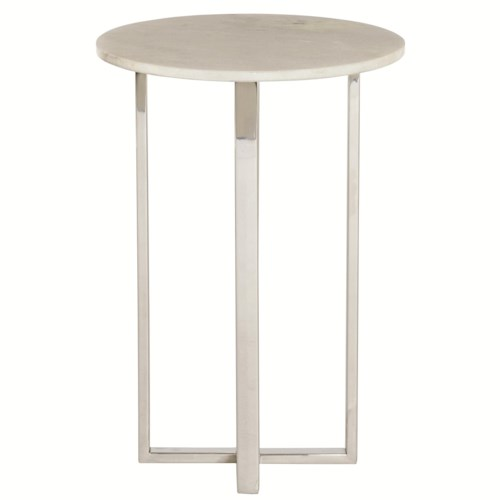 Bernhardt Interiors - Accents Alexi Chairside Table with White Granite Top