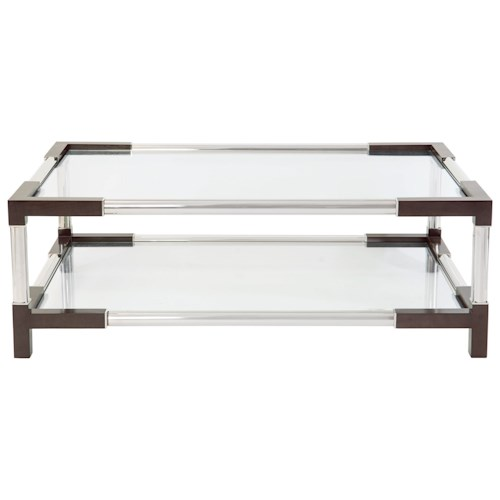 Bernhardt Interiors - Accents Mason Cocktail Table with Tempered Glass Shelf