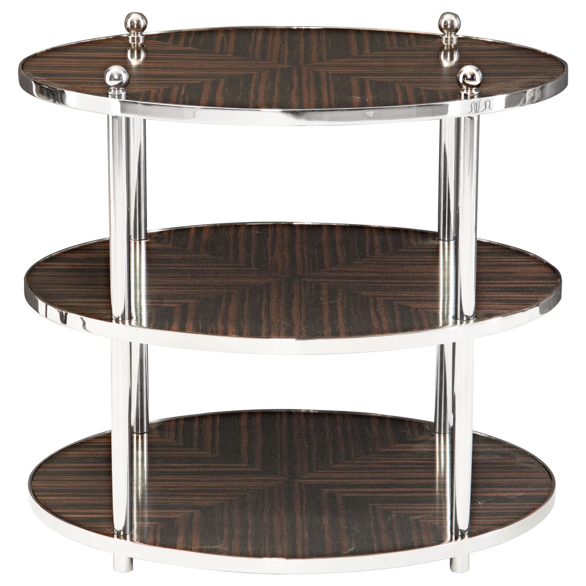 Bernhardt Interiors   Accents Costa Round End Table With 2 Shelves