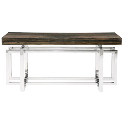 Bernhardt Interiors - Accents Jarrett Console Table with Stainless Steel Base