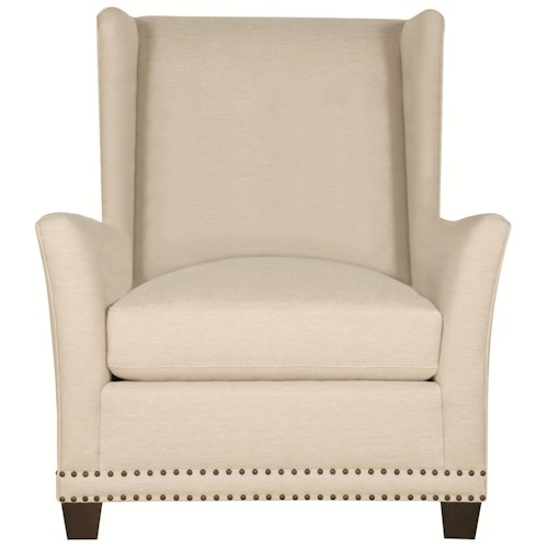 Bernhardt Interiors - Penrose Wing Chair with Nailhead Trim