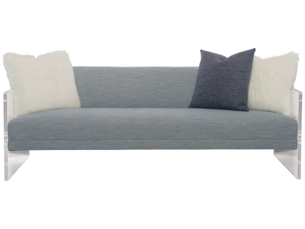 Interiors Phoenix Contemporary Sofa With Clear Frame By Bernhardt