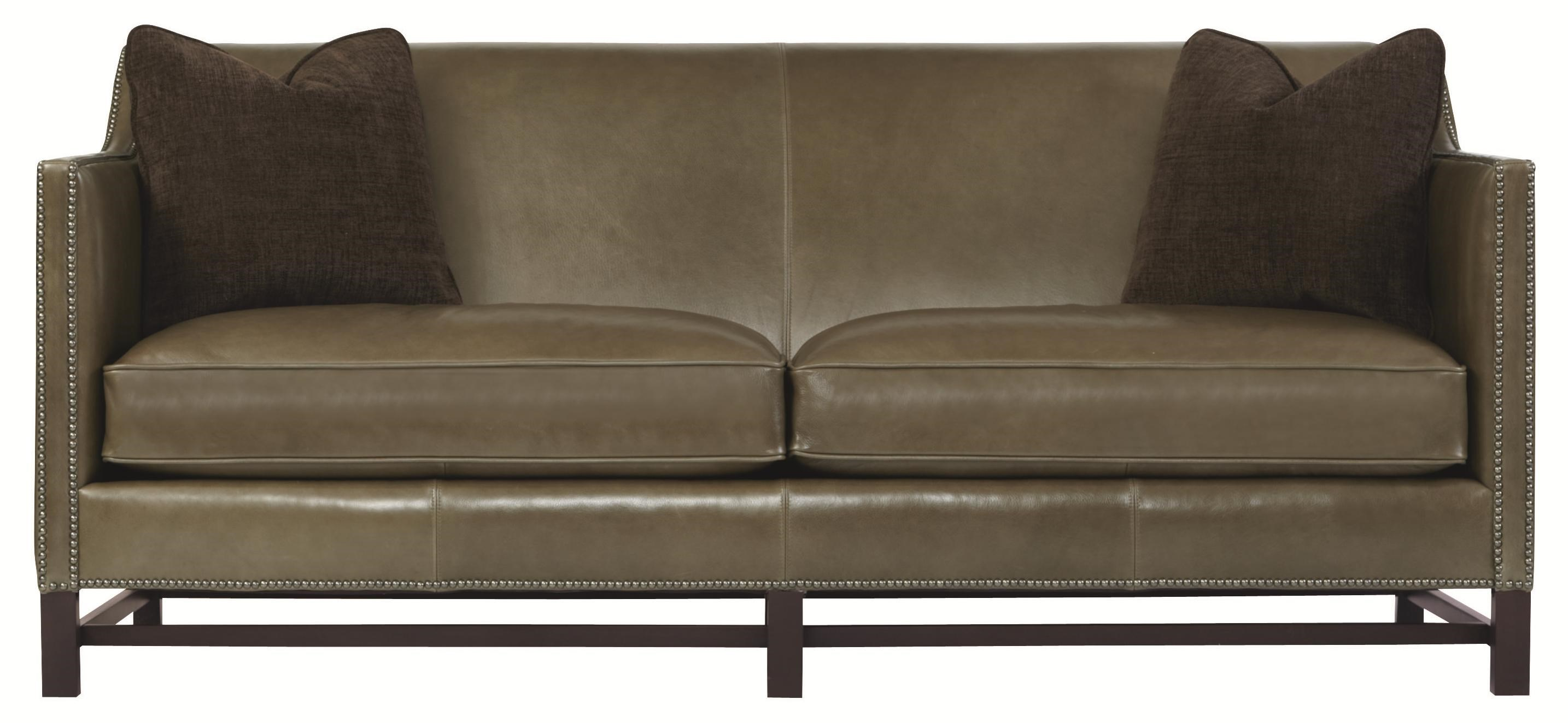 Bernhardt Interiors   Sofas Contemporary Styled Chatham Sofa With Exposed  Wood Accents