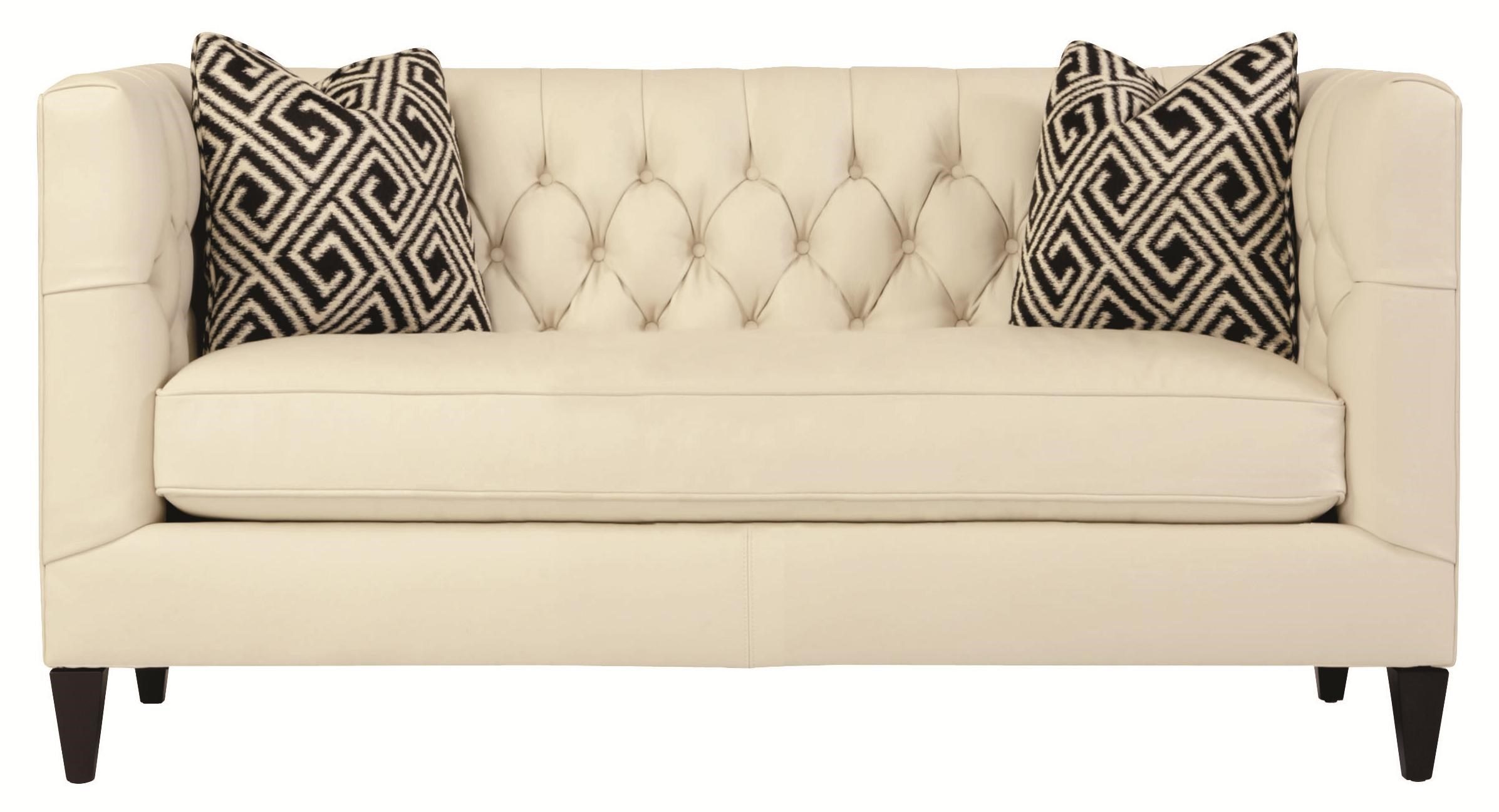 Charmant Bernhardt Interiors   Sofas Contemporary Leather Beckett Loveseat With  Button Tufted Back