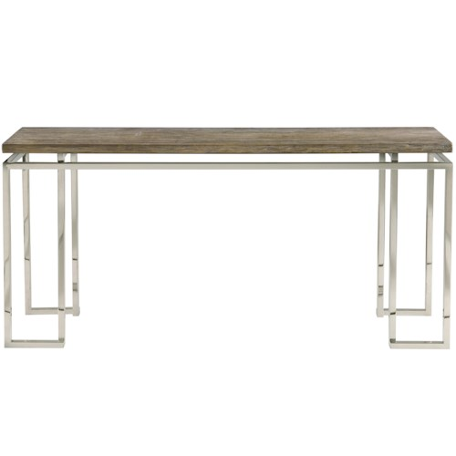Bernhardt Interiors - Waverly Console Table with Stainless Steel Base