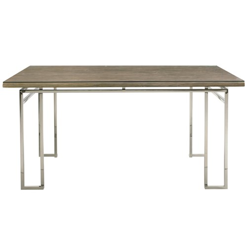 Bernhardt Interiors - Waverly Gathering Table with Stainless Steel Base