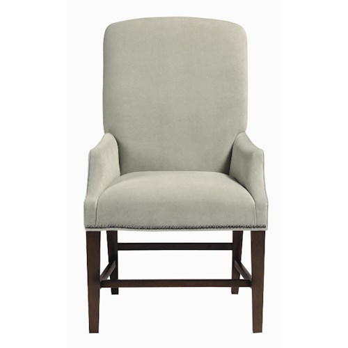 Bernhardt Interiors - Chairs Hadden Arm Chair with Exposed Wood Base