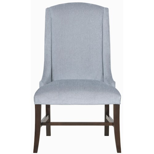 Bernhardt Interiors - Chairs Slope Arm Chair with Exposed Wood Base