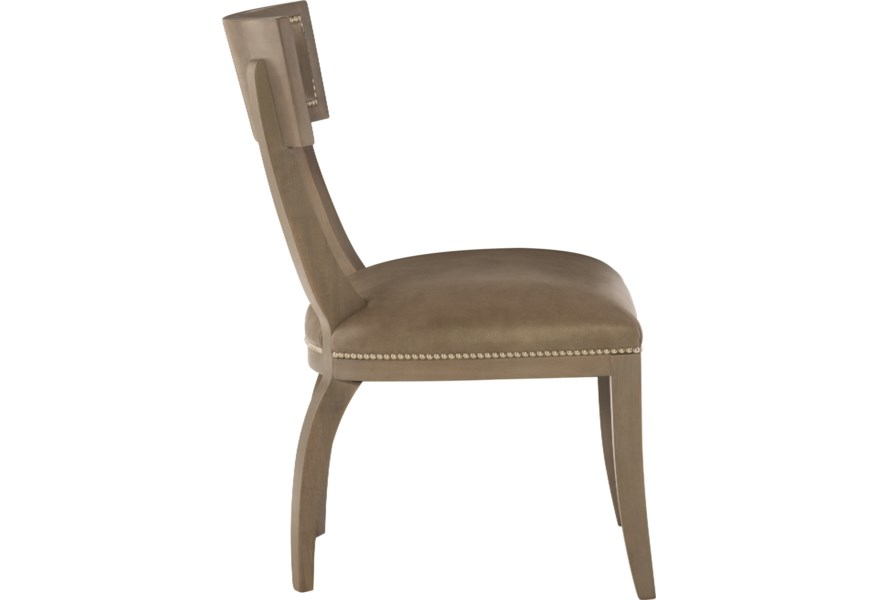 Bernhardt Interiors Chairs Transitional Leather Dining Side Chair Sprintz Furniture Exposed Wood Chairs