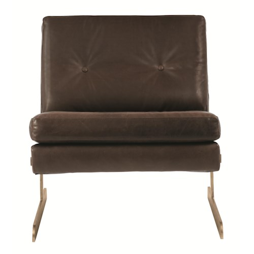 Bernhardt Interiors-Chairs Lance Chair with Metal Legs and Contemporary Style