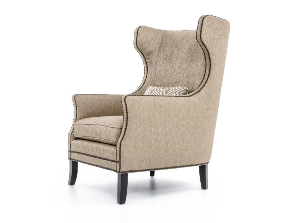 Wing chair bernhardt - Bernhardt Interiors Chairs N1712 Kingston Contemporary Wing Chair