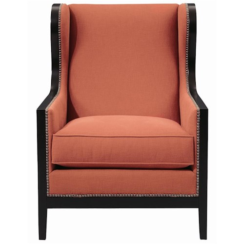 Bernhardt Interiors - Chairs Kercher Upholstered Chair with Nail Head Trim