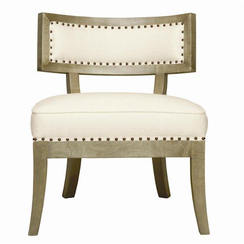 Bernhardt Interiors - Chairs Decatur Exposed Wood Chair with Nailhead Trim