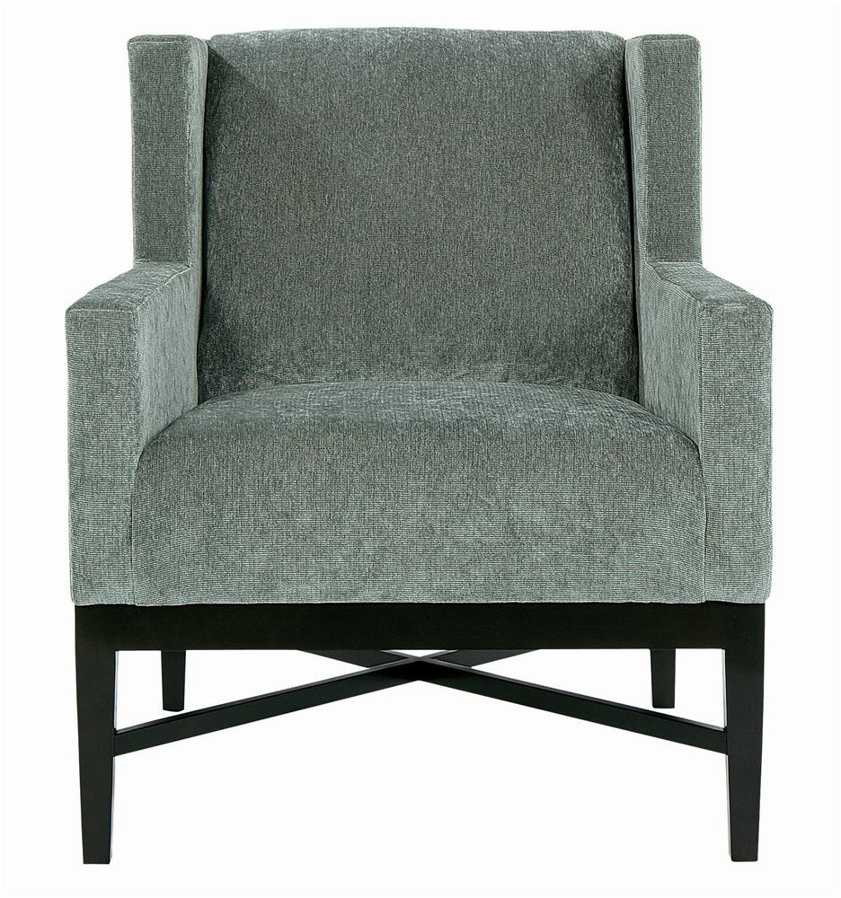 Bernhardt Interiors Chairs Prentiss Wing Chair with Wooden Apron