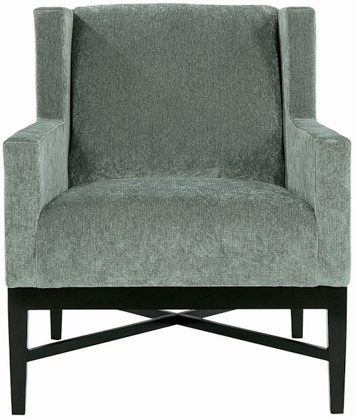 Bernhardt Interiors - Chairs Prentiss Wing Chair with Wooden Apron