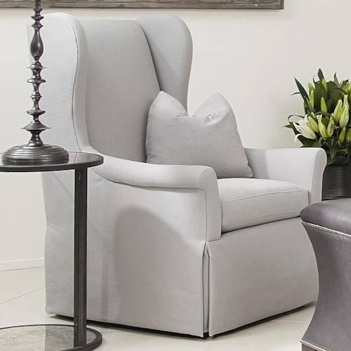 Bernhardt Interiors - Chairs Weston Upholstered Wing Chair with Skirt