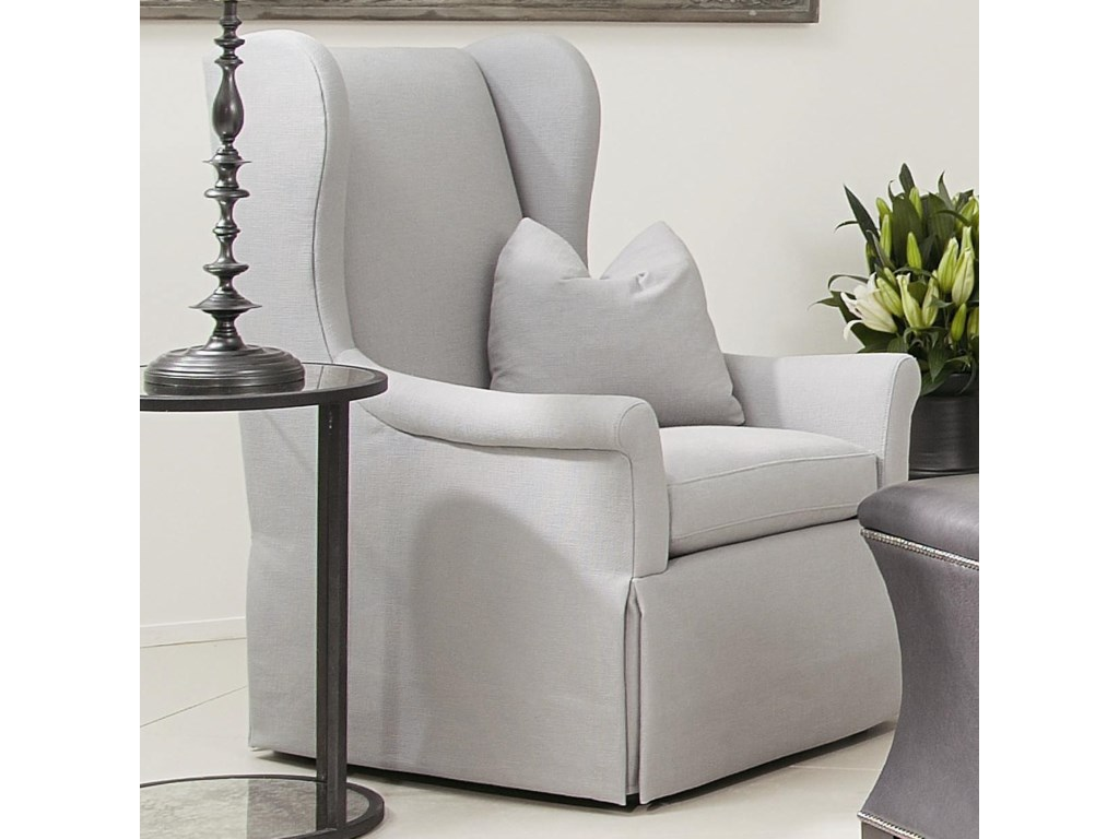 Wing chair bernhardt - Bernhardt Interiors Chairs Weston Upholstered Wing Chair With Skirt Johnny Janosik Wing Chairs