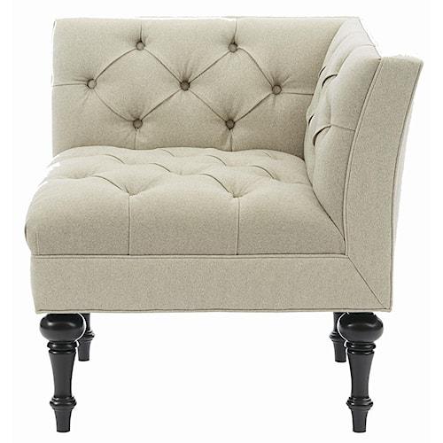 Bernhardt Interiors - Chairs Salon Corner Chair with Button Tuft Detail