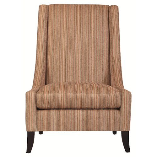 Bernhardt Interiors - Chairs Modern Zowie Accent Chair with Low Arm Structure