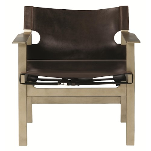 Bernhardt Interiors-Chairs Aspen Directors Chair with Leather Buckle