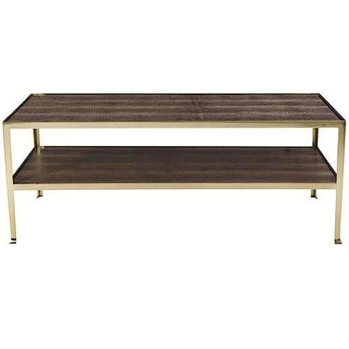 Bernhardt Jet Set Cocktail Table with Shelf