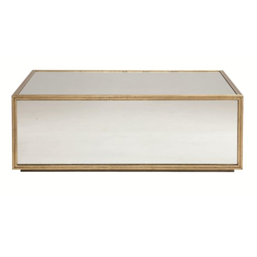 Bernhardt Jet Set Cocktail Table with Mirrored Glass Panels