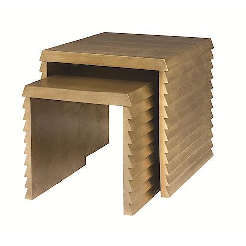 Bernhardt Jet Set Nesting Tables with Shutter Detail