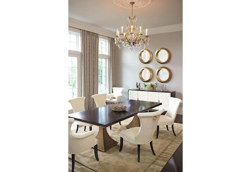 Bernhardt Jet Set Dining With Double Pedestal Table