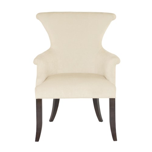 Bernhardt Jet Set Upholstered Arm Chair with Ring Pull Hardware