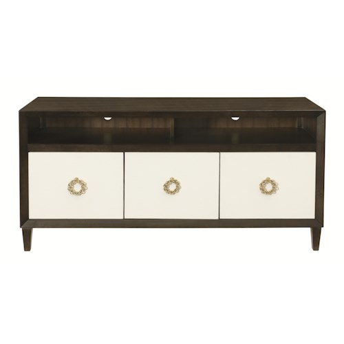 Bernhardt Jet Set Entertainment Console with 3 Drawers