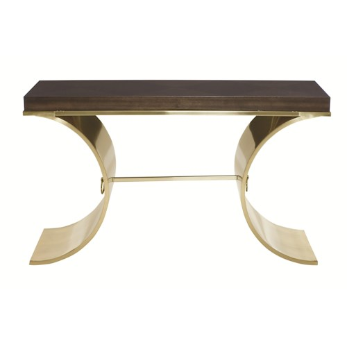 Bernhardt Jet Set Console Table with Tubular Steel Base
